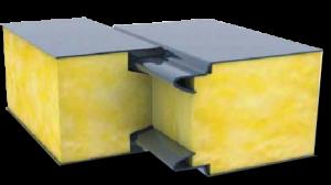 Разрез фасадной сэндвич-панели