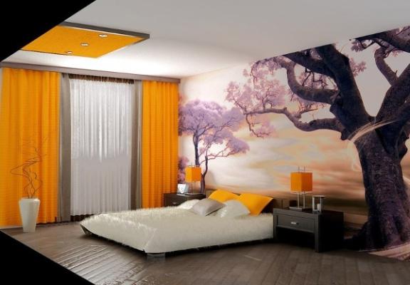 фото обои 3д на стену в спальню фото цены