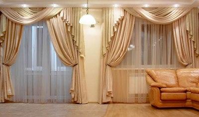 Класические шторы в гостиную