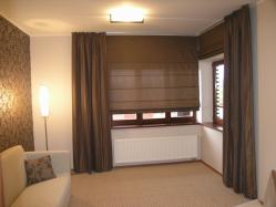 Красивые римские шторы для гостиной