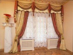 Современные французские и австрийские шторы для гостиной