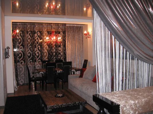 Арт-деко - дизайн штор для гостиной