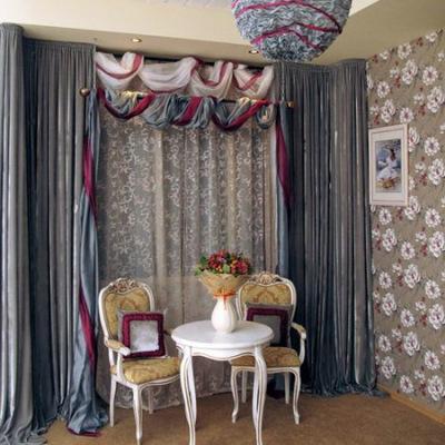 Арт-деко - красивые шторы для гостиной