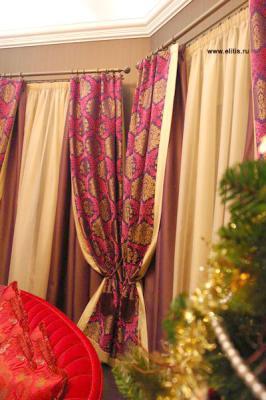 Арт-деко - элитные шторы для гостиной
