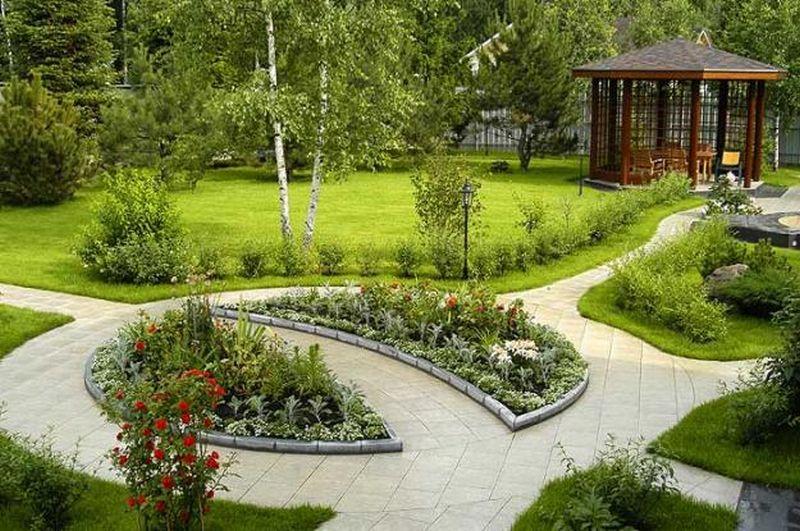 Фото ландшафтного дизайна загородного