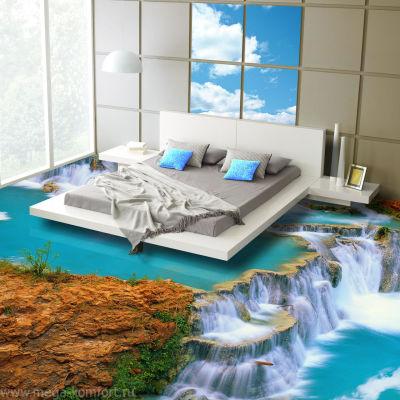 Наливной 3d пол в спальни