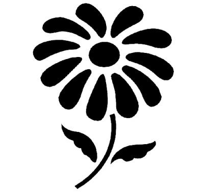 Трафарет цветка ромашка