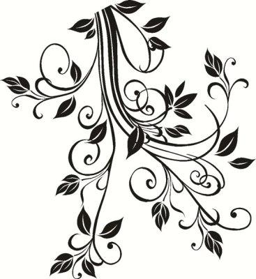 Трафарет цветов