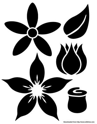 Трафареты цветков