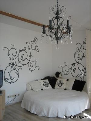 Трафареты для стен в спальни