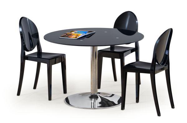 Стеклянные круглые столы для кухни