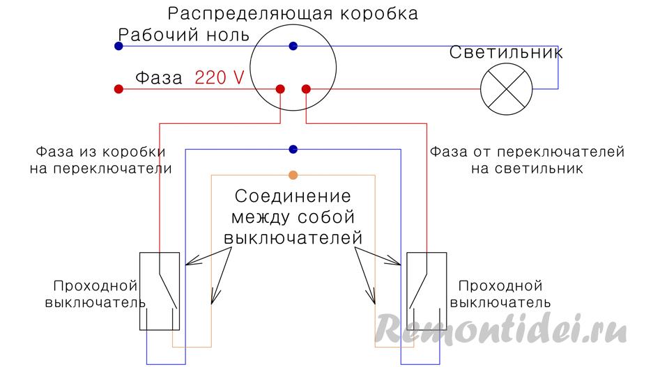 Cхема включения проходного