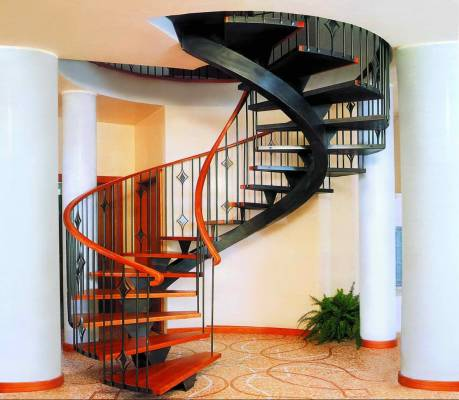 Виды лестниц для частного дома - винтовая лестница
