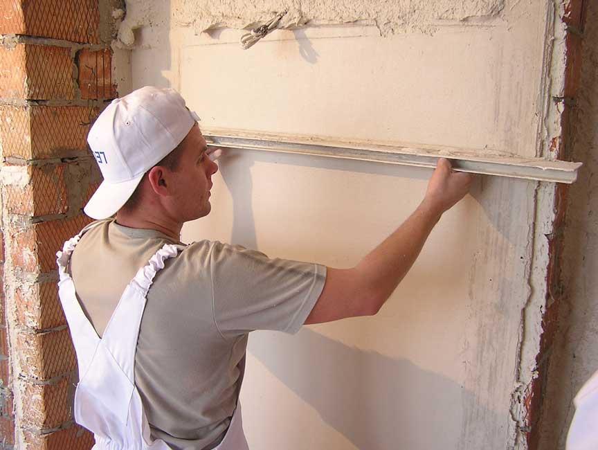 Выравнивание стен своими руками по маякам фото