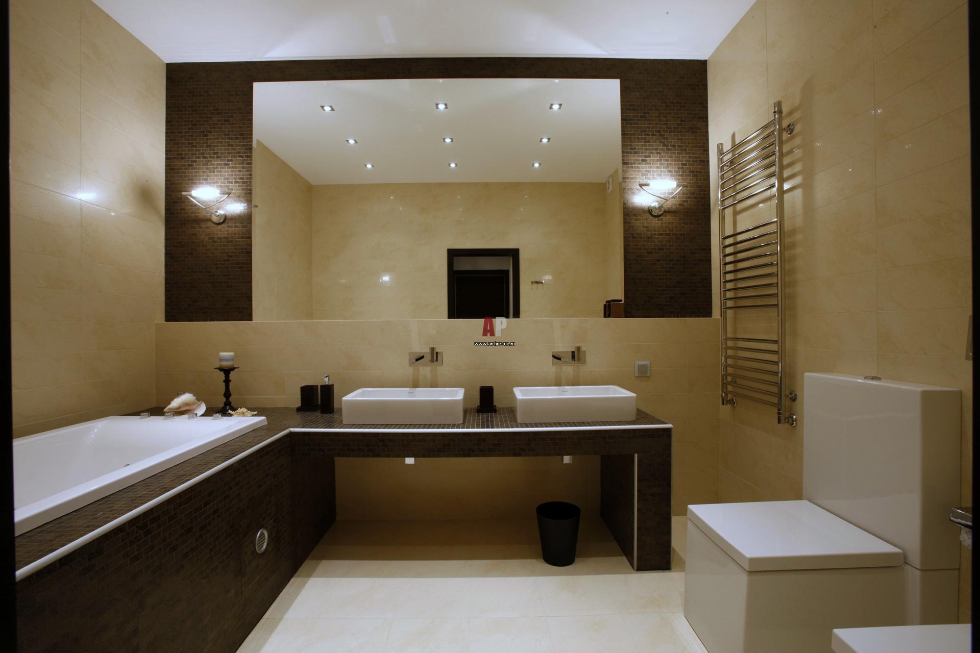 Интерьеры кухни ванной