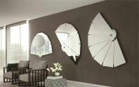 зеркальные наклейки в форме веера