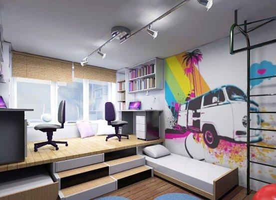 дизайн комнаты для мальчика в стиле модерн