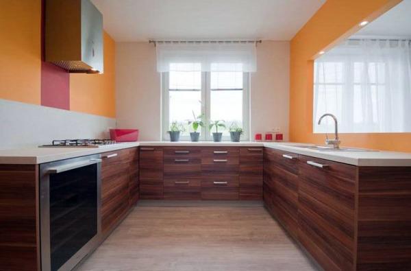 дизайн кухни 9 кв м фото