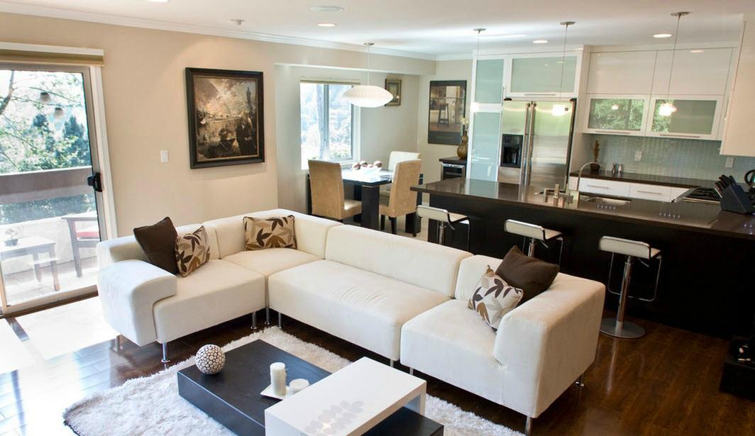 Кухня и гостиная вместе дизайн фото 40 кв.м