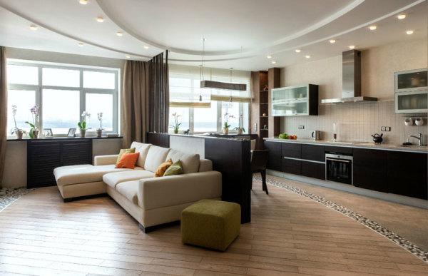 дизайн кухня гостиная 30 кв м