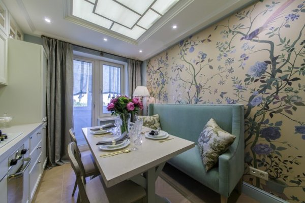 дизайн 9 метровой кухни с диванчиком