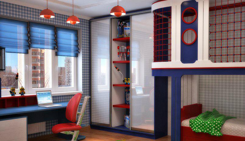 Дизайн спальни детской для мальчика