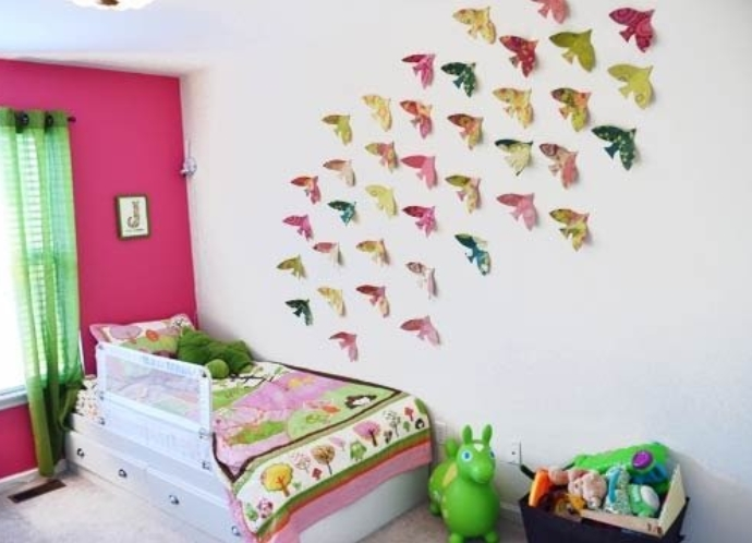Как можно украсить детскую комнату своими руками на новый год фото
