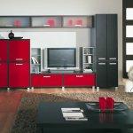 контрастная модульная мебель для гостиной