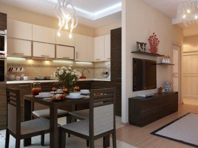 кухня гостиная 20 кв м дизайн фото