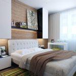 дизайн маленькой спальни 9 кв м фото