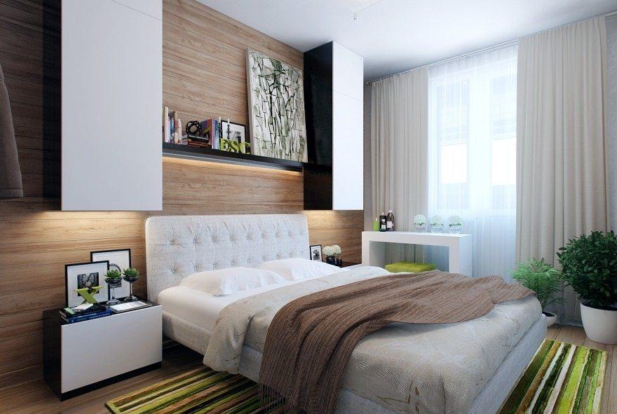 Дизайн спальной комнаты маленькой