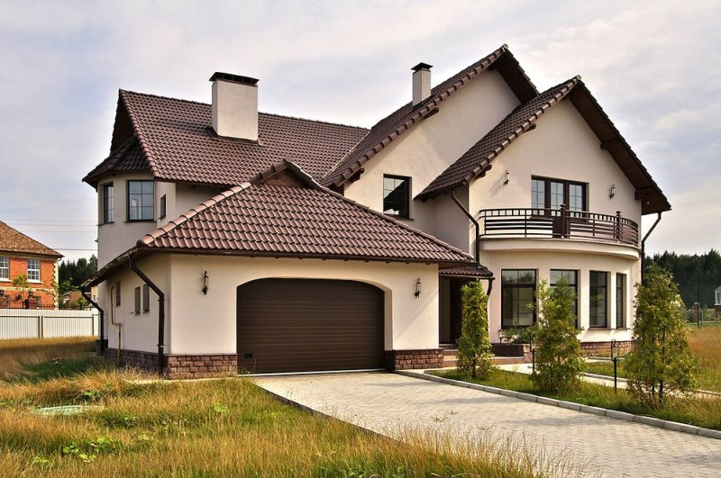 Варианты фасадов домов