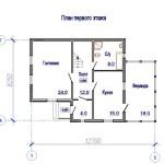 планировка дачного дома с мансардой
