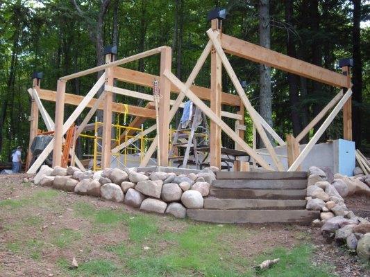 построить баню на даче своими руками