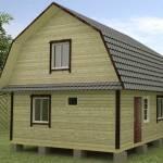 проект деревянного дома на столбчатом фундаменте