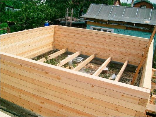 строим баню своими руками из бруса