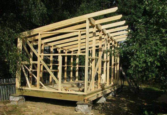 стропильная система для односктаной крыши