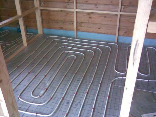 теплый пол под линолеум на бетонный пол