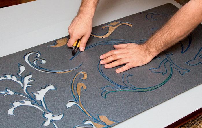 Трафареты для стен своими руками орнамент