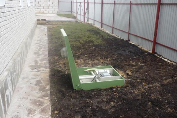автономная канализация снаружи