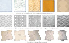 виды плиток для потолка