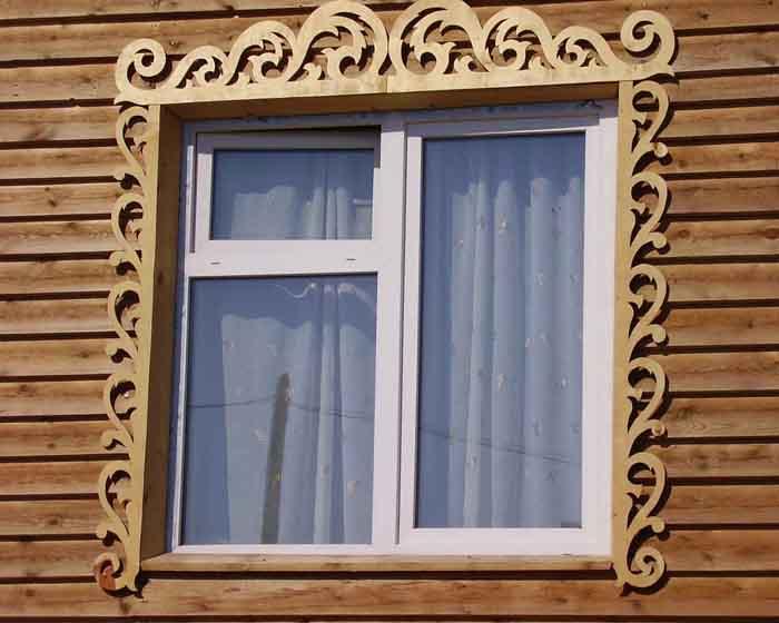 Простые наличники на окно своими руками