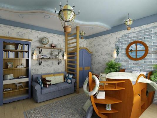 детская комната для мальчика в морском стиле