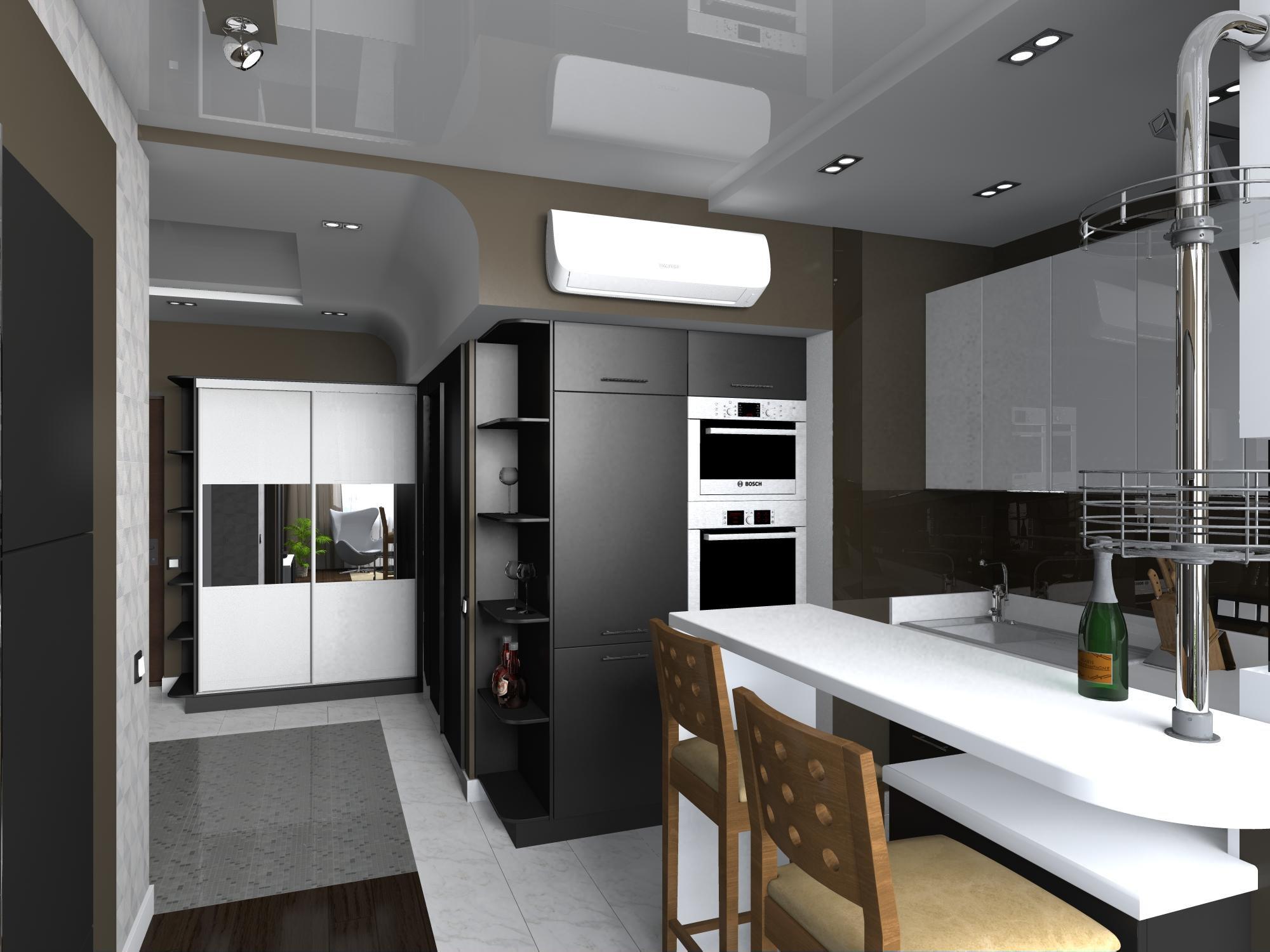 Дизайн однокомнатной квартиры студия