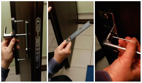 замена дверных замков металлической двери