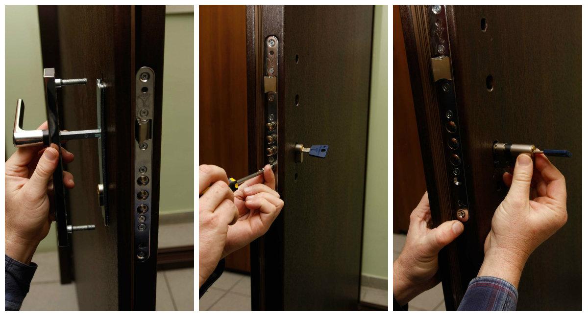 Входная металлическая дверь замена замка своими руками