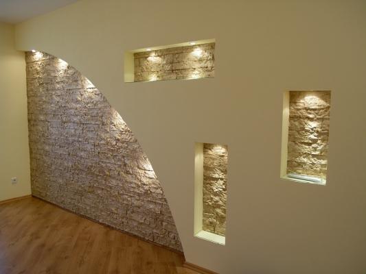 Декор стен гипсокартоном  видео