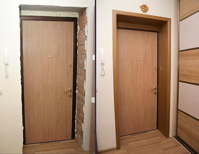 Обналичка входных дверей своими руками 24