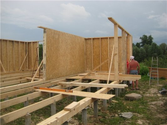 Своими руками строительство каркасного дома фотоотчет