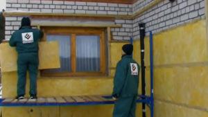 Обрешетка и теплоизоляция стен